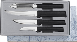 Meal Preparation 4 Knife Gift Set by Rada Cutlery - Black SS Resin* (SKU: G205)