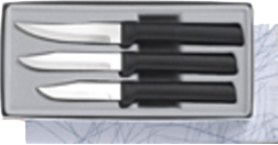 Paring Knives Galore 3 Knife Gift Set by Rada Cutlery- Black SS Resin* (SKU: G201)