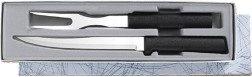 Carving Knife & Fork Gift Set by Rada Cutlery  - Black SS Resin* (SKU: G213)