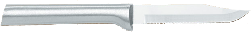 "3 1/4""Serrated Paring Knife by Rada Cutlery - Brushed Aluminum Handle (SKU: R142)"