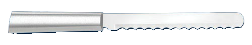 "6"" Bagel Knife by Rada Cutlery - Brushed Aluminum Handle (SKU: R118)"