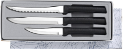 Culinary Essentials 3 Knife Gift Set by Rada Cutlery - Black SS Resin* (SKU: G249)