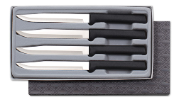 Rada Four Utility Steak Knives Gift Set Black Handles (SKU: G255)