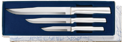 Housewarming Knives 3 Knife Gift Set by Rada Cutlery -Brushed Aluminum (SKU: S02)