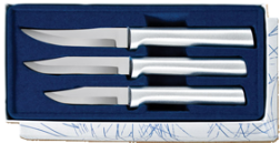 Paring Knives Galore 3 Knife Gift Set by Rada Cutlery-Brushed Aluminum (SKU: S01)