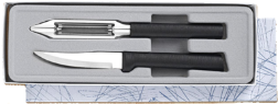 Pare & Peel 2 Knife Gift Set by Rada Cutlery - Black SS Resin* (SKU: G246)