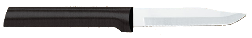 "3 1/4"" Serrated Paring Knife by Rada Cutlery -Black SS Resin Handle* (SKU: W242)"