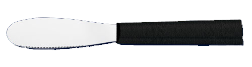 "3 3/8"" Spreader Knife by Rada Cutlery - Black SS Resin Handle*"