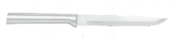 "4 7/8"" NonSerrated Steak Knife by Rada Cutlery-Brushed Aluminum Handle (SKU: R104)"