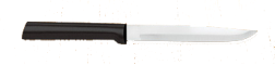 "4 7/8"" NonSerrated Steak Knife by Rada Cutlery -Black SS Resin Handle* (SKU: W204)"