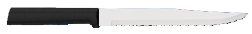 "7"" Serrated Slicing Knife by Rada Cutlery - Black SS Resin Handle*"