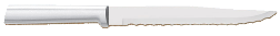 "7"" Serrated Slicing Knife by Rada Cutlery - Brushed Aluminum Handle (SKU: R138)"