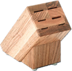 Creative Cuts Oak Block Only by Rada (holds 6 Knives not included) (SKU: B42)