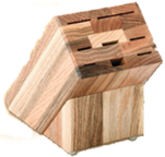 Colossal Oak Knife Block Only by Rada (holds 8 Knives not included) (SKU: B43)