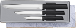 Housewarming Knives 3 Knife Gift Set by Rada Cutlery - Black SS Resin* (SKU: G202)