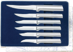 All Star Paring - 6 Knives Gift Set by Rada Cutlery - Brushed Aluminum (SKU: S52)