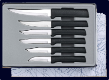 All Star Paring - 6 Knives Gift Set by Rada Cutlery - Black SS Resin*