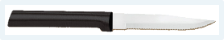 "3 7/8"" Serrated Steak Knife by Rada Cutlery - Black SS Resin Handle*"