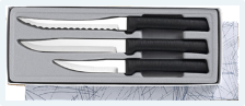 Culinary Essentials 3 Knife Gift Set by Rada Cutlery - Black SS Resin*