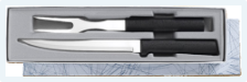 Carving Knife & Fork Gift Set by Rada Cutlery  - Black SS Resin*
