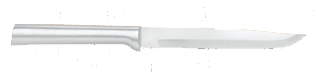 "4 7/8"" NonSerrated Steak Knife by Rada Cutlery-Brushed Aluminum Handle"
