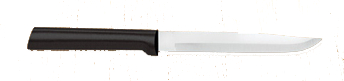 "4 7/8"" NonSerrated Steak Knife by Rada Cutlery -Black SS Resin Handle*"