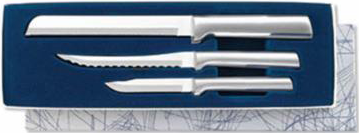 Sensational Serrations Gift Set by Rada Cutlery Brushed Aluminum Handle