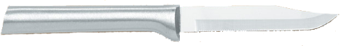 "3 1/4""Serrated Paring Knife by Rada Cutlery - Brushed Aluminum Handle"