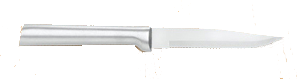 "3 7/8"" Serrated Steak Knife by Rada Cutlery - Brushed Aluminum Handle"