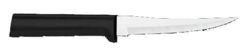 "4 3/8""  Paring Knife by Rada Cutlery- Black SS Resin Handle*"