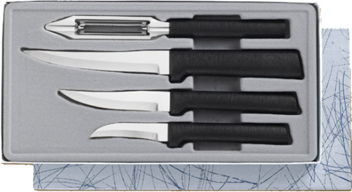 Meal Preparation 4 Knife Gift Set by Rada Cutlery - Black SS Resin*