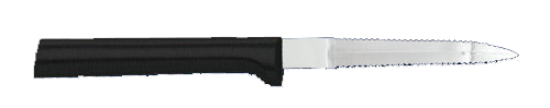 "3 3/8""  Grapefruit Knife by Rada Cutlery- Black SS Resin Handle*"