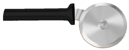 "3"" Pizza Cutter by Rada Cutlery- Black SS Resin Handle*"