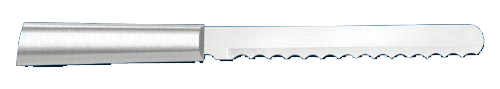 "6"" Bagel Knife by Rada Cutlery - Brushed Aluminum Handle"