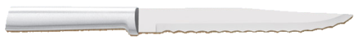 "7"" Serrated Slicing Knife by Rada Cutlery - Brushed Aluminum Handle"
