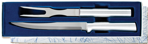 Carving Knife & Fork Gift Set by Rada Cutlery - Brushed Aluminum
